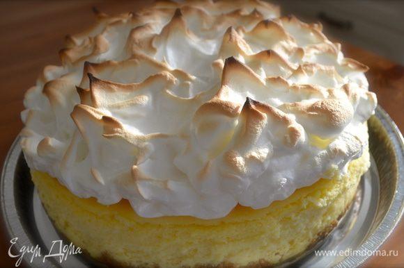 Готовый торт достать из формы и можно подавать! Приятного аппетита!