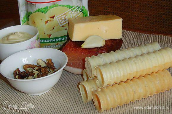 Продукты, необходимые для приготовления закуски.
