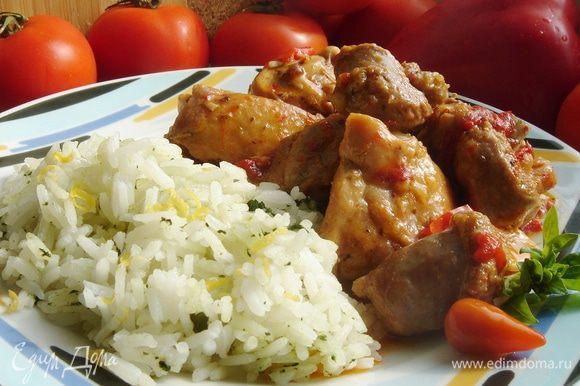 Подавать жаркое с рисом или пастой. Приятного аппетита!