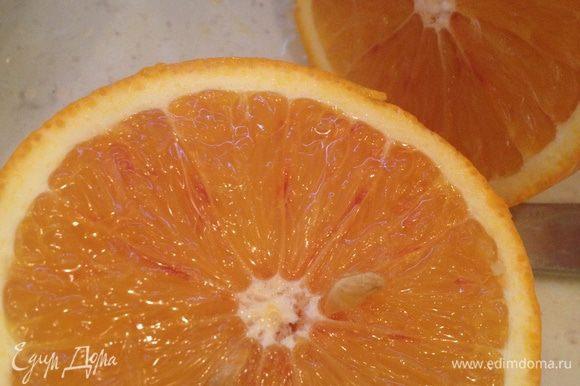 Выжимаем апельсины (мне понадобилось 4 апельсина)