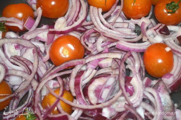 выложить овощи в форму для запекания