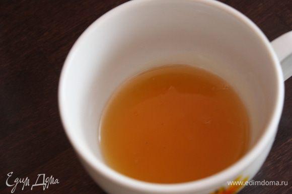 мед с соком и розмарином процеживаем.