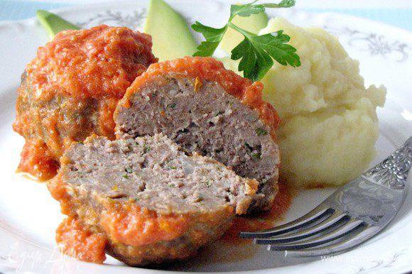 Мясные шарики по-итальянски готовы. Приятного аппетита!
