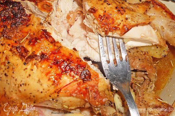Вот только посмотрите какая сочная курица получилась.