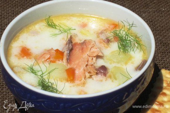 Всем рекомендую Уху по-фински от Лизы Пироговой http://www.edimdoma.ru/retsepty/54345-uha-po-finski-so-slivkami-kuhni-narodov-mira!!! Очень вкусная и ароматная!!!