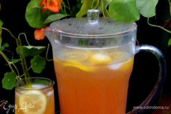 Готовый лимонад пьем в любое время по желанию.