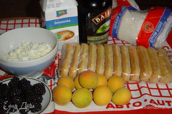 Начинаем с подготовки всех ингредиентов для приготовления десерта.