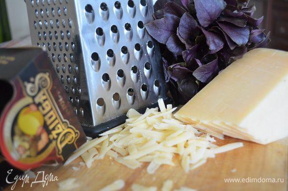 Сыр Джюгас натереть на крупной терке