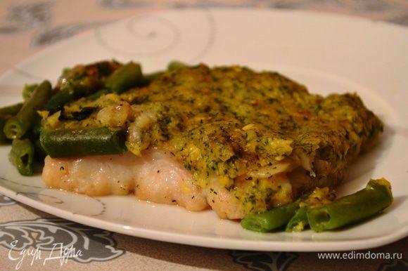 Рыба вкусна как горячей, так и в остывшем виде! Приятного аппетита!