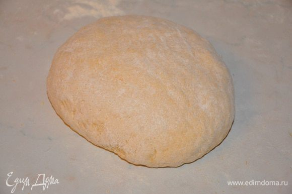 и замесить гладкое тесто. Выложить тесто в чашку, накрыть и снова отправить в теплое место