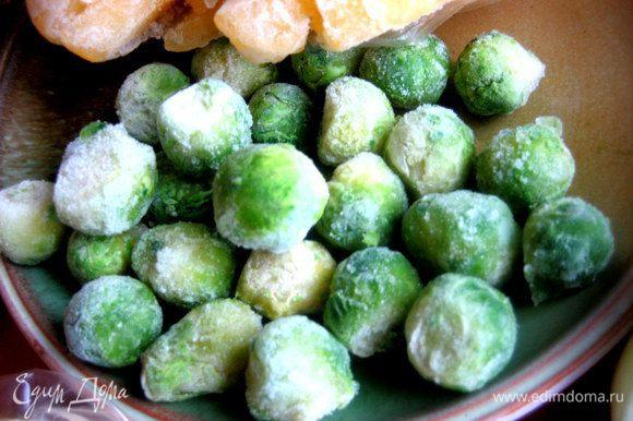 Брюссельскую замороженную капусту можно не размораживать заранее, она быстро готовится!