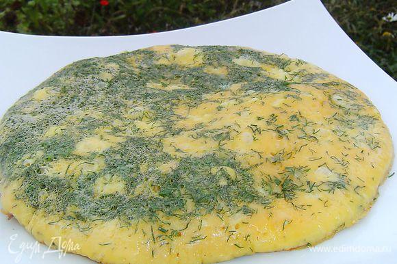 Вот и готов вкусный, ароматный, полезный омлет.