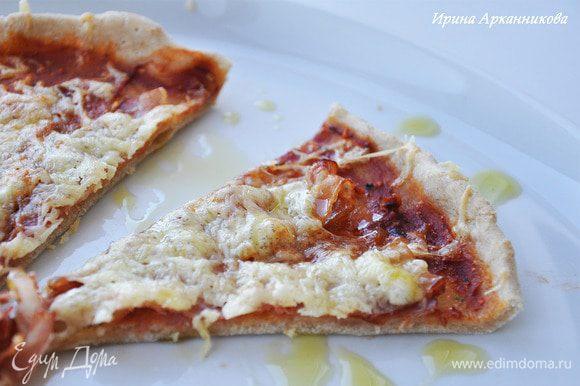 При подаче можно сбрызнуть оливковым маслом.