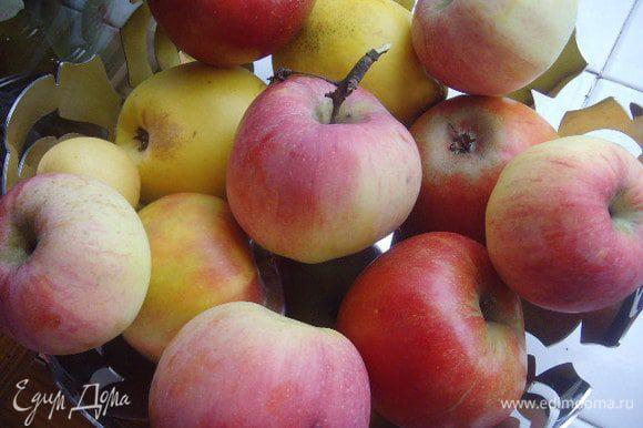 Яблоки очистить и мелко порезать.