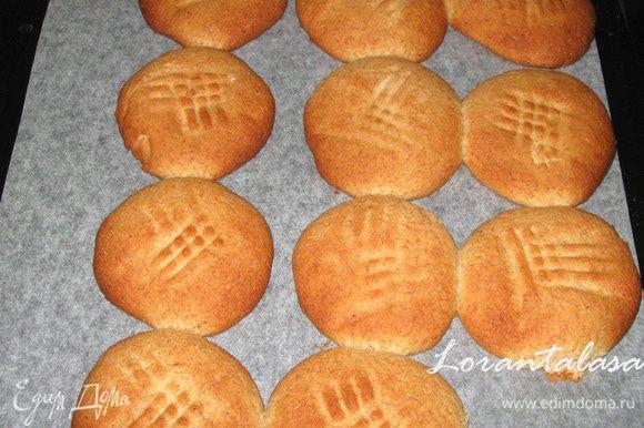 Выпекать печенье 15-18 минут при температуре 180 градусов.