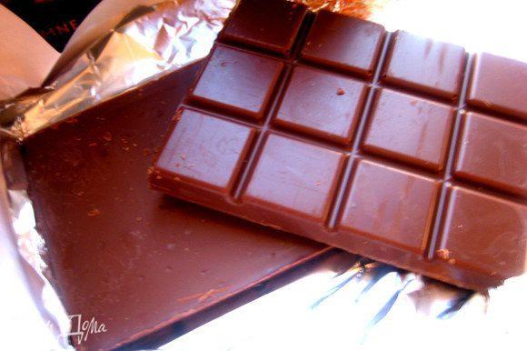 На половину рецепта я взяла 125 г шоколада.