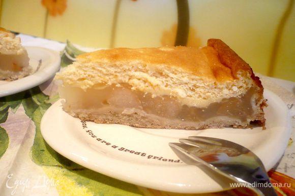 Вынем из духовки пирог, дадим ему остыть в течение часа и выложим его из формы. Приятного вам аппетита!