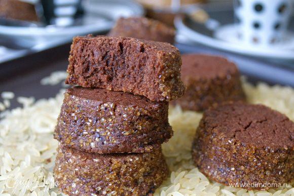 Готовое печенье остудить на решетке и можно подавать к чашечке чая (или кофе!) )))))