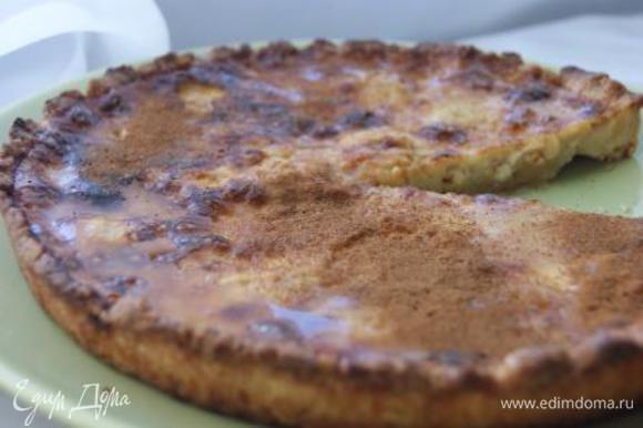 Готовый тарт охладить 20 минут. Полить медом и посыпать корицей! Приятного Вам аппетита!!!