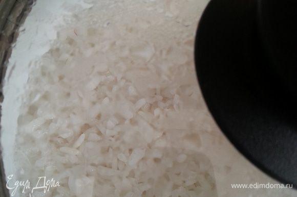Вот так выглядит рис после снятия с плиты.