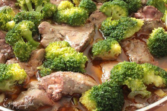 Выкладываем брокколи,накрыть крышкой и тушить еще 2-3 минуты. Все, блюдо готово. Приятного вам аппетита!