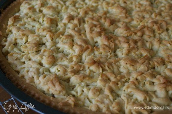 Запекайте 35-40 минут до золотисто-коричневого цвета. Готовый пирог остудите до комнатной температуры.
