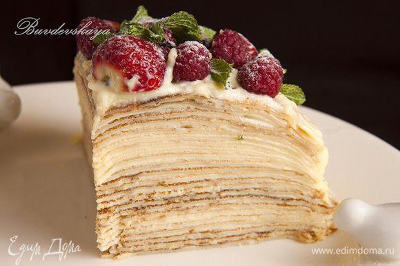 P.S.. А вот и кусочек тортика !