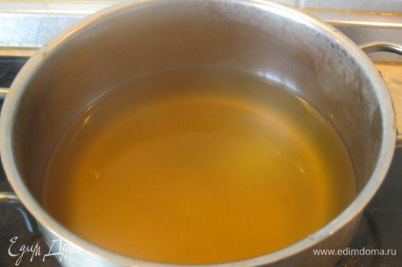 Овощной бульон приобрел не только аромат, но и цвет.