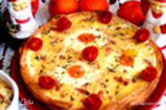 А это большая глазунья в тарелке из теста: http://www.edimdoma.ru/retsepty/50817-glazunya-v-s-edobnoy-skovorodke Очень рекомендую для воскресного позднего завтрака!!!!!