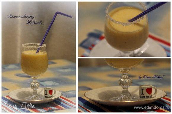 Переливаем в красивые бокалы и утоляем жажду в жаркие летние дни! Приятного аппетита!