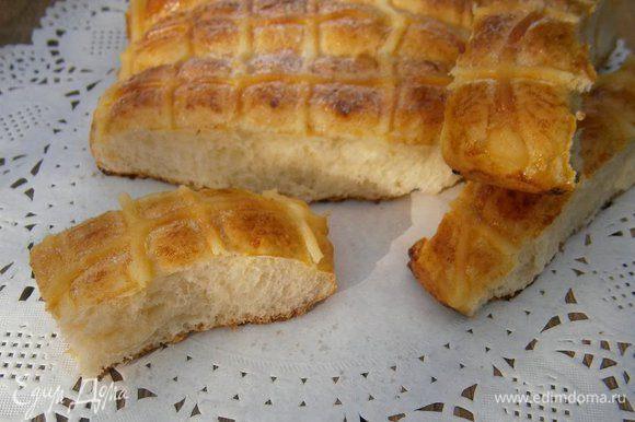 Перед подачей присыпать сахарной пудрой. Очень вкусно! Отламывайте себе булочку ( ну или две;)) и угощайтесь!!!