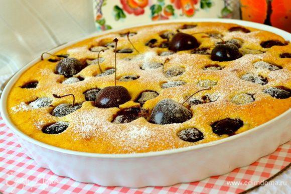 Десерт присыпать сахарной пудрой и подавать! Вкусно как в холодном, так и в теплом виде!