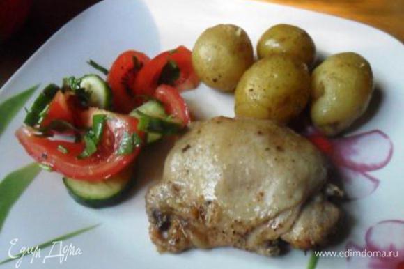 Подавать горячим, сопроводив салатом из свежих овощей. Приятного аппетита!
