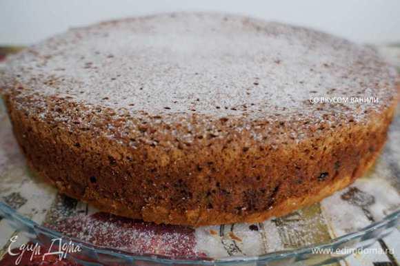 Остывший пирог извлечь из формы. Перед подачей посыпать сахарной пудрой.