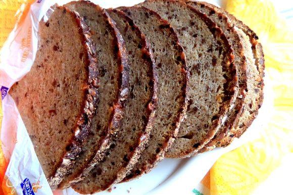 Хлеб был дома многозерновой,очень подходит для данной начинки!