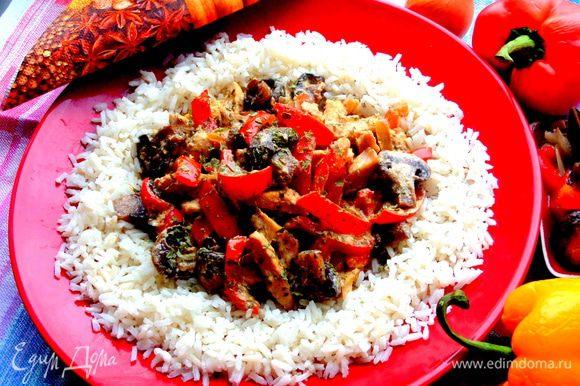А ещё я с ними готовила блюдо из курочки от Стеллы,правда,там нужны свежие грибы,но было вкусно))) http://www.edimdoma.ru/retsepty/70072-shampinony-s-kurinym-file-i-sladkim-pertsem-po-muromski