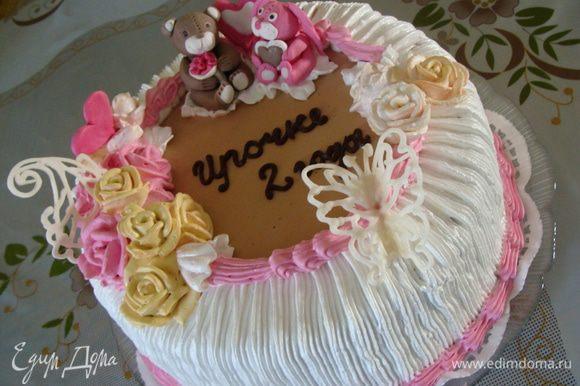Это еще один вариант оформления такого торта. Вес 3 кг.