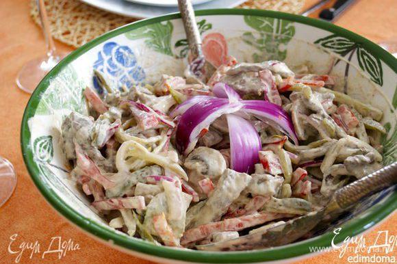 """А еще рекомендую попробовать вот этот вкусный салат """"по-строгановски"""" от Светы (Стеллы) http://www.edimdoma.ru/retsepty/63351-salat-po-stroganovski Особенно нравится мужчинам!)"""