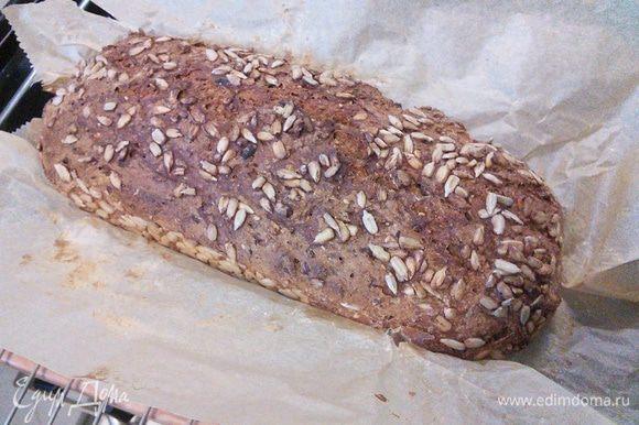 Последние 10 минут освободите хлеб от формы и допекайте его без.