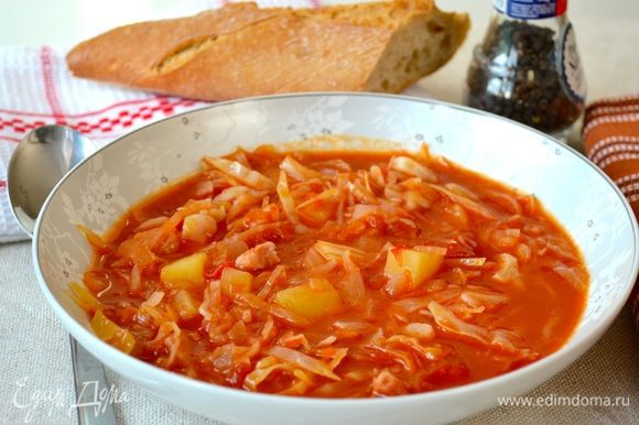 Готовому супу дать настояться минут 30 и подавать! Приятного аппетита!