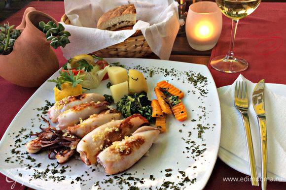 А это как раз то самое блюдо из ресторанчика, которое меня покорило своим необыкновенным вкусом во время отдыха в Черногории.