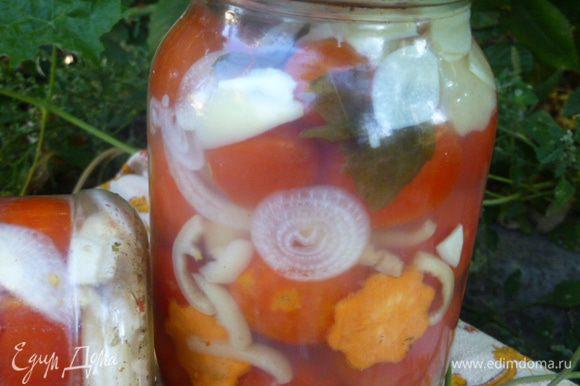 А зимой наслаждаемся красивыми и вкусными овощами в желе.