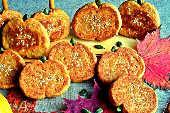 Можно подавать ароматное сырное печенье, а тыква совсем не чувствуется.