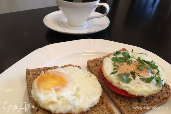 А это мой завтрак на любимом хлебе! Структуру хлеба можете посмотреть на фото во вкладке.