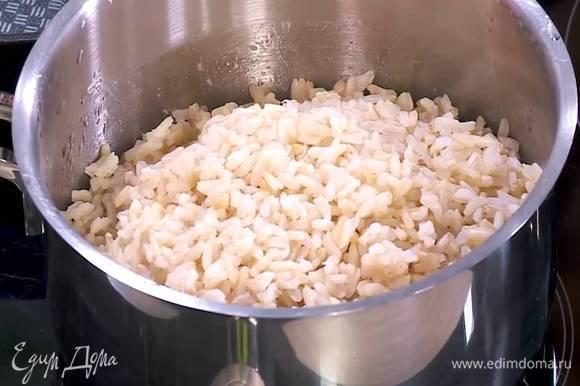 Рис предварительно отварить.