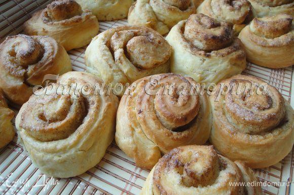 Вот и готовы булочки. Они очень красивы и невероятно ароматны.