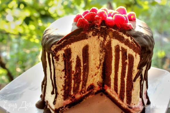 А потом, настоявшийся за ночь торт, раскроет с первым разрезом свою прекрасную душу)