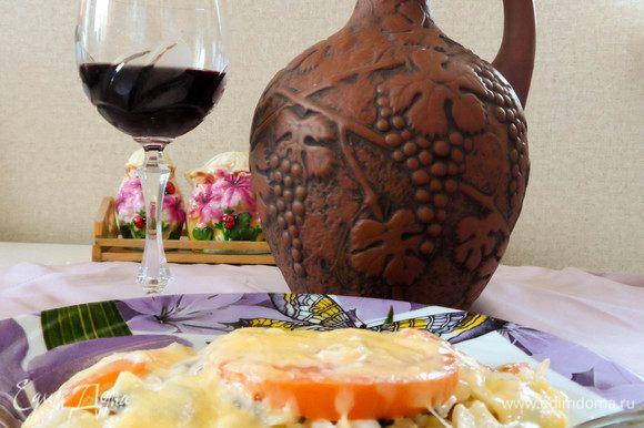 Дополните свой ужин бокалом хорошего итальянского вина. И приятного аппетита!