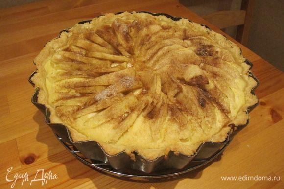 Готовность тарта определяйте по своей духовке. Главное — не передержать его в духовке. Края тарта не должны быть слишком загорелыми.