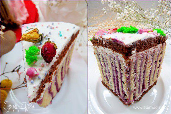 Ну и самое интересное в тортике-рулете это, конечно, разрез.